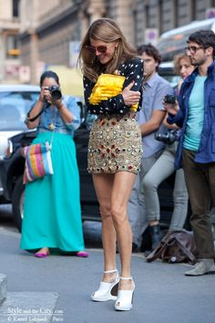 Anna Delo Russo. Neo-Baroque skirt is very over the top as it should be for this trend.