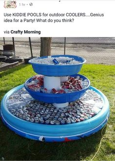 Genius way to serve drinks at an outdoor party or barbecue and Charm and other great Party Hacks and ideas! Genius way to serve drinks at an outdoor party or barbecue and Charm and other great Party Hacks and ideas! Grad Parties, Summer Parties, Birthday Parties, Graduation Party Games, Diy Gifts For 30th Birthday, 21st Birthday, Kids Birthday Party Ideas, Summer Bash, Summer Pool Party