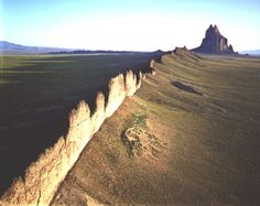 Shiprock, New Mexico. Radial dike and volcanic neck. Visited on senior field camp.