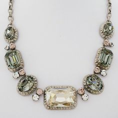 Sorrelli French Blush Collection Statement Necklace, Crystal, Vintage