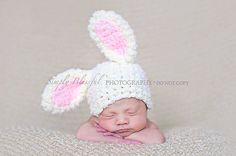 PDF Instant Download einfach häkeln Muster Nr. 248 Bunny Mütze Foto Prop Größen Frühchen, Neugeborene. 0-3, 3-6 Monate auf Etsy, 3,04€