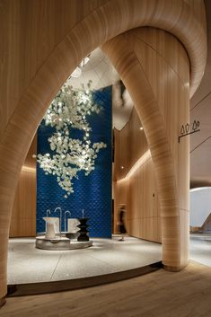 The Florescence in Guangzhou, China by Karv One Design on Behance Amazing Architecture, Interior Architecture, Design Agency, Branding Design, Glass Curtain Wall, Showroom Design, Modern Bathroom Design, Bathroom Designs, Ceiling Design