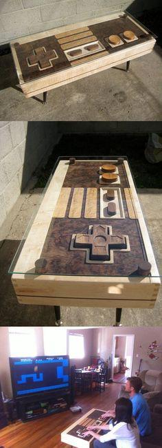 Nintendo Coffee Table... It matches the Super Mario Bathroom!