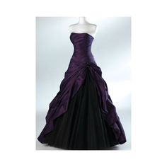 Purple And Black Ball Gown Gothic Wedding Dresses for Brides Strapless Grey Floor Length Actual Picture Bridal Gowns Vestidos de Novia A Line Prom Dresses, Black Wedding Dresses, Prom Party Dresses, Ball Dresses, Formal Dresses, Purple Wedding, Prom Gowns, Long Dresses, Dress Party