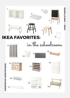 Looking for some ways to organize your Montessori-inspired schoolroom or playroom? Check out some of our favorite things from IKEA that help to keep things tidy. Do It Yourself Ikea, Montessori Playroom, Montessori Toddler, Montessori Trays, Ikea Kids Room, Ikea For Kids, Ikea Shopping, Best Ikea, Small Storage