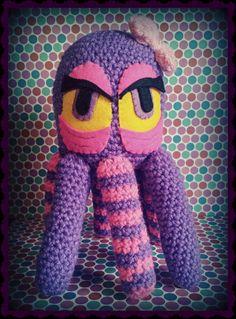 Zombie Octopus girl purple amigurumi by PsychoDollShop on Etsy, €30.00