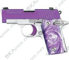 Product Details: 	 P238 Purple Passion features: • Stainless steel slide coated in Purple Cerakote • Alloy frame with Arctic Frost finish • Polished controls with Purple trigger • Purple Pearlite grips • SIGLITE Night Sights • .380ACP • Ships with (1) 6-round magazine. New firearms come with full manufacturers warranty. Pics are representative. Please email any questions on any auction BEFORE bidding to (bradley@bkarms.net).YOU MUST PUT ME IN YOUR ADDRESS BOOK IF BUYING OR EMAILING…