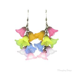 Butterfly Lily Cascading Flower Rainbow by whimsydaisydesigns