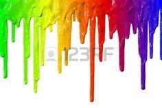 pintura chorreando: Diferentes colores de pintura chorreando