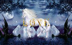 Angels and unicorns and rainbows | Unicorn White Beauty Magical Wonderland Gold Love by mickeyelvis128