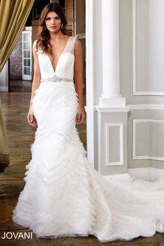 Sleeveless Trumpet Bridal Dress JB25679