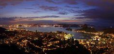 Rio de Janeiro - Mirante Dona Marta - Amanhecer - Pão de Açúcar - Baía de Guanabara - Niterói - Brasil - Brazil