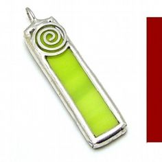 Citrus stained glass pendant