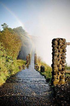 Zambia - Rainbow over the Bridge by Arnaud Sliwa-Biset