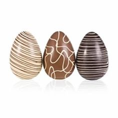"""This is an absolutely marvellous idea – three """"lucky dip"""" chocolate Easter eggs! Made from the award winning house blends of organic chocolate from Montezuma's, each egg, three in total, has a minimum weight and they look deliciously wonderful too! Making Chocolate, Easter Chocolate, Chocolate Art, How To Make Chocolate, Chocolates, Easter 2018, Organic Chocolate, Easter Treats, Truffles"""