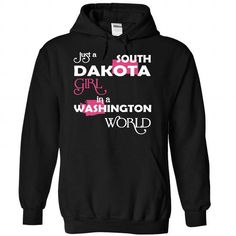(SouthDakota001) Just A South Dakota Girl In A Washingt - #statement tee #sweater for teens. GET IT => https://www.sunfrog.com/Valentines/-28SouthDakota001-29-Just-A-South-Dakota-Girl-In-A-Washington-World-Black-Hoodie.html?68278