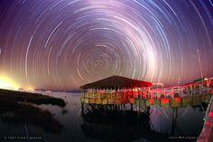 Circumpolar Star Trails Over Bolivia