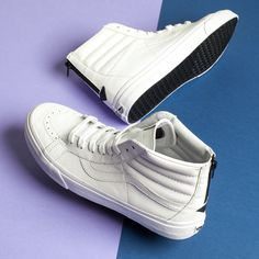 For all those screaming for a triple white, leather sk8-hi.
