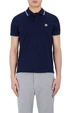 MONCLER LOGO STRIPES COTTON PIQUÉ POLO SHIRT. #moncler #cloth # | Moncler Men | Pinterest | Moncler and Polo shirts