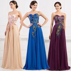 5821b280560 Princess Women Vintage Long Formal Bridesmaid Party Evening Prom Wedding  Dresses on Luulla