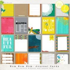 Always looking for food themed journal cards.