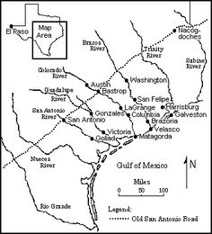 This Map Shows the Major Settlements in Texas that Date from the Time of the Republic. This would be useful as something to look back to the more we look into the lesson. Texas History 7th, Us History, Family History, History Timeline, History Photos, Local History, Black History, History Classroom, History Education