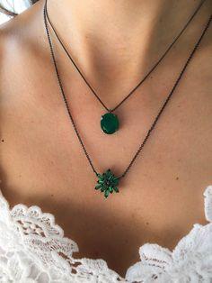 Compre Colar geométrico esmeralda com ródio negro semi joias na Waufen ✓ Semjoias Finas ✓ Ótimos Preços ✓ Entrega Rápida e Segura ✓ Pgto em até 12 Vezes