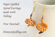 Learn how to make these fun spiral earrings with the paper quilling technique called tubing … Continue reading →