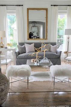 Living room stool skin conditions Scandinavian home accessories