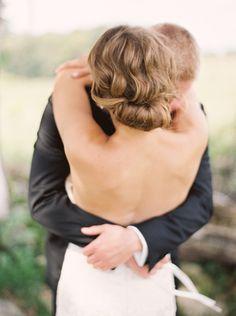 Voluminous chignon: http://www.stylemepretty.com/canada-weddings/ontario/2015/01/13/rustic-glam-ontario-wedding/ | Photography: When He Found Her - http://www.whenhefoundher.com/