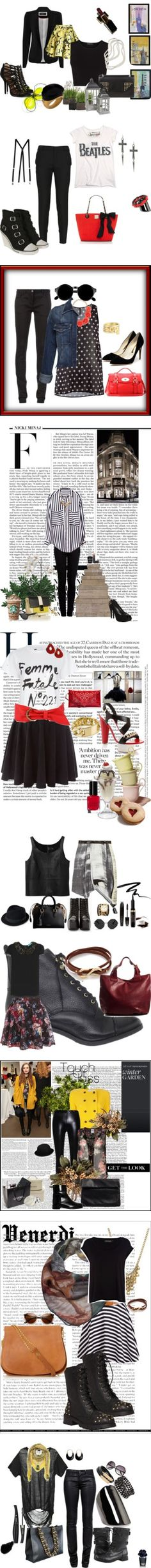 """nero 2013"" by sara-giovannelli on Polyvore"