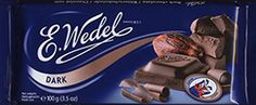 Wedel is Poland's oldest chocolate brand and one of the oldest Polish brands still in existence. For over 150 years it has been associated with genuine and original chocolate. Chocolate Brands, Bitter, Poland, Cocoa, Goodies, Sweet, Sweet Like Candy, Candy, Good Stocking Stuffers