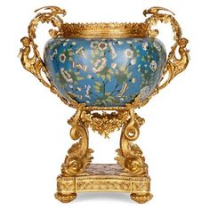 Louis XV style ormolu and cloisonné enamel jardinière | Chinese, French | Early 20th Century. More details online at mayfairgallery.com