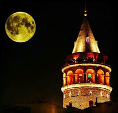 GALATA❤❤ Pilgrimage, Istanbul, Tower, Moon, Adventure, Building, Travel, Painting, Instagram