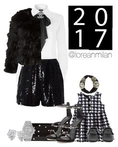 """""""mommy and me: new years eve party."""" by loreanmilan ❤ liked on Polyvore featuring Dolce&Gabbana, Jimmy Choo, Polo Ralph Lauren, Naeem Khan, Chanel, Alice + Olivia, Audemars Piguet and Ross-Simons"""