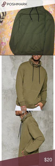 21 men hidden zipper hoodie Great stylish sweater with a hidden hoodie inside the zip 21men Sweaters Turtleneck