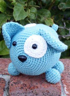 Cu-ute toy.  Roly Poly Doggy Crochet Amigurumi by Deja Jetmir