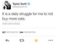 Taylor Swift, slowly turning into an old cat lady. Taylor Swift Funny, Taylor Swift Quotes, Taylor Alison Swift, Lil Debbie, Swift 3, Say More, 24 Years Old, Her Music, Love Her