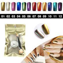 12 Cores 1 g/caixa Shinning Prego pó glitter glitters DIY nail art pó espelho cromo pigmento magia prego pó para unhas alishoppbrasil