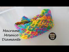 DIY Tutorial Pulsera de Macrame Mosaico Diamante Fácil - YouTube