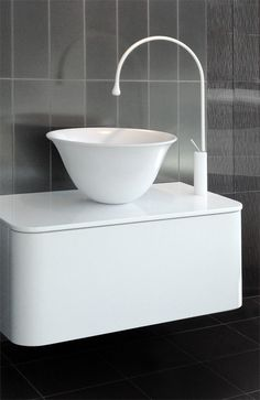Gessi Goccia faucet with Adina vanity from The Furniture Guild