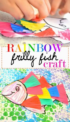 A house full of sunshine: Rainbow Frilly Fish Craft