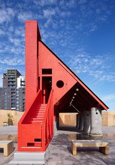 New-Horizons-LFA-Red-Yellow-Pavilion-Hall-McKnight_TAKA-Clancy-Moore-Steve-Larkin_dezeen_468_1