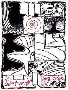Pierre Alechinsky - L'échauguette Tachisme, Art Pierre, Gravure Illustration, Charcoal Art, Art Abstrait, Mark Making, Illustrations, Abstract Expressionism, Les Oeuvres