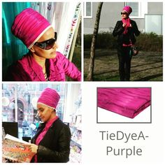"""The very first color turban that I fall in love with when I was asked to model turbans from the www.gosikh.com website - tie dye purple.   Good news!!! To save 10% on your entire order, please use coupon code """"TURBANCHIQ"""", we will also donate another 10% to WFP, world food program."""
