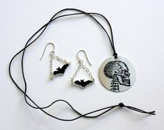 Super Easy Spooky Jewelry for Halloween! So Little Time, Blessings, Super Easy, Jewelry Sets, Washer Necklace, Stamps, Skull, Craft Ideas, Fine Art