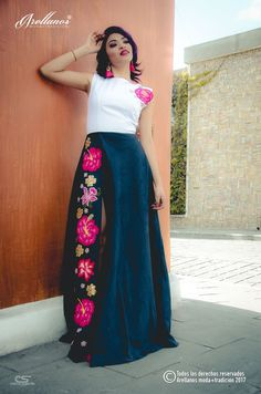Elegant embroidered dress 'French' dress with hand embroidery. Online shopping on My Livemaster. Gala Dresses, Dresses For Teens, Modest Dresses, Formal Dresses, Mexican Embroidered Dress, Embroidered Clothes, Mexican Outfit, Mexican Dresses, Mexican Traditional Clothing