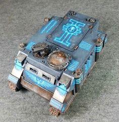 Grey Knight Rhino - Use similar method for wolf-runes? Warhammer Paint, Warhammer 40000, Grey Knights, Deathwatch, Battle Games, Space Wolves, Warhammer 40k Miniatures, Game Workshop, Fantasy Miniatures