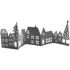 Silhouette Design Store - View Design #108367: christmas village mini accordion card