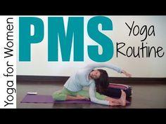 15 Minute Yoga for PMS   Yoga for Women - YouTube